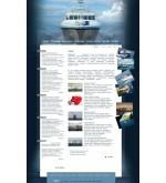 Макет сайта Катера, яхты flash