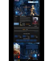 Резиновый шаблон html Lineage 2 Online Игра