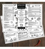 Шаблон дизайна меню плейсметы на стол для ресторана