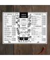 Шаблон дизайна меню плейсметы на стол грузинская кухня