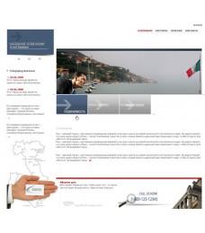 Шаблон дизайна psd. Макет сайта для компании Италия, недвижимость