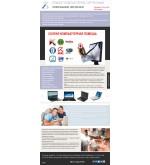Шаблон сайта  ремонт компьютеров, пк, оргтехники