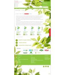 Шаблон дизайна psd. Шаблон сайта экологичные товары