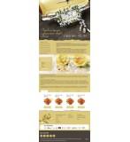Шаблон сайта оформление цветами, свадебные букеты