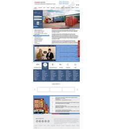 Дизайн сайта логистика, грузоперевозки, транспортные услуги