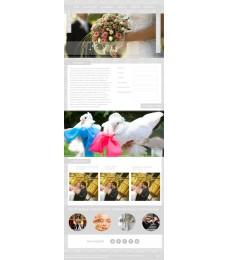 Шаблон сайта организация свадеб, свадебные букеты, декор